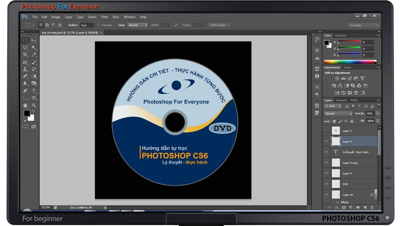 Photoshop CS6: Thiết kế nhãn đĩa CD ROM (phần1) [Beginner]