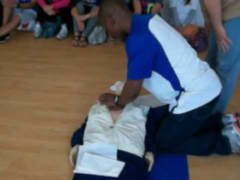 Athman Issa  Performing CPR in UAE