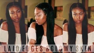 Laid Edges and Glowy Skin All Summer 17   Hair & Makeup GRWM