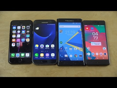 iPhone 7 vs. Samsung Galaxy S7 vs. BlackBerry Priv vs. Sony Xperia X Performance Benchmark Speed!