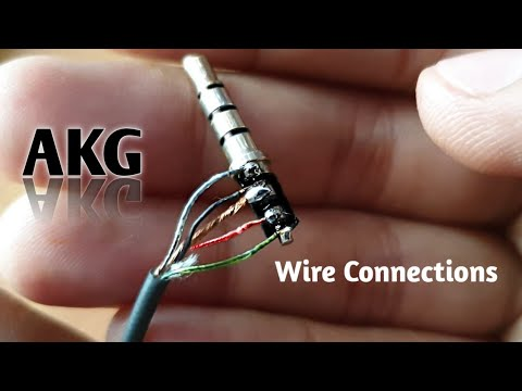 Akg Earphone Wire Connection Youtube