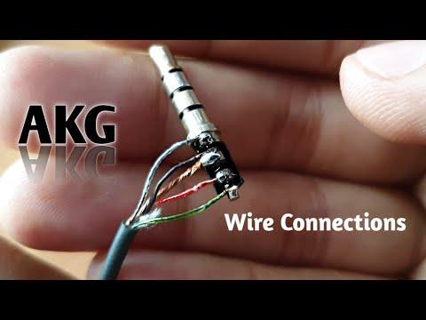 AKG Earphone wire connection. - YouTubeYouTube