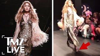 Gigi Hadid Handles Runway Mishap Like A Pro | TMZ Live