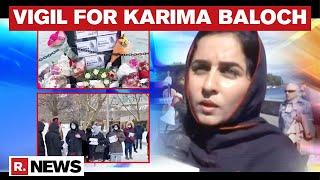 Canadian Baloch Diaspora Organise A Vigil To Pay Their Respect To Activist Karima Baloch