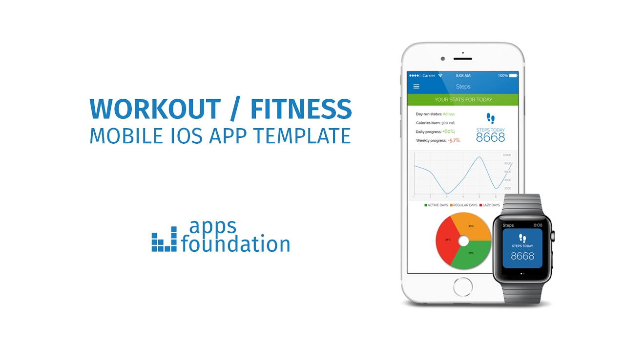 getfit workout fitness app template by apps foundation youtube
