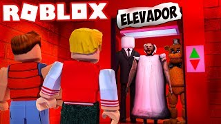 GRANNY is INSIDE the ELEVATOR in ROBLOX! (SCARY)