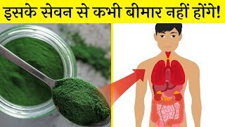 रोजाना इसके सेवन से शरीर उम्र भर स्वस्थ रहेगा। Spirulina benefits in hindi