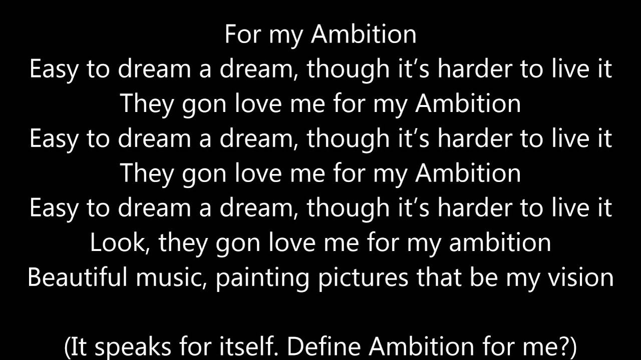 wale ambition lyrics - photo #6