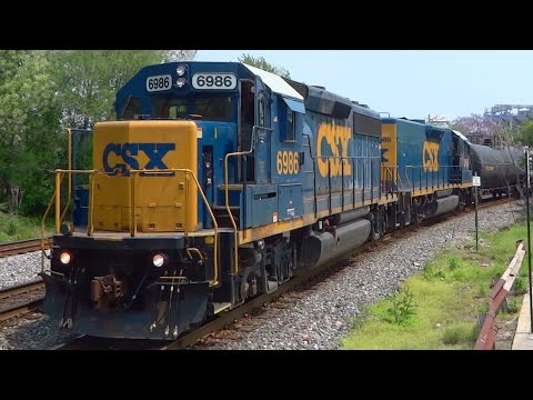 CSX Mother & Slug Pulling Freight Past Mile One
