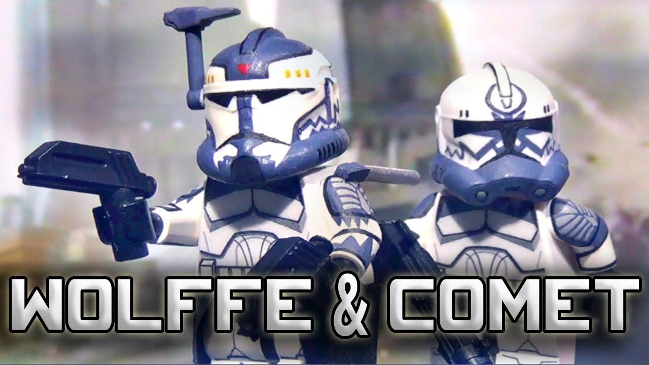 Custom LEGO Star Wars Minifigure Clone Commander Wolffe Without Helmet