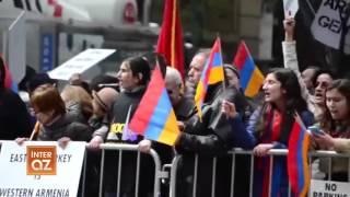 Азербайджанец отнял у армянина Турецкий флаг в США