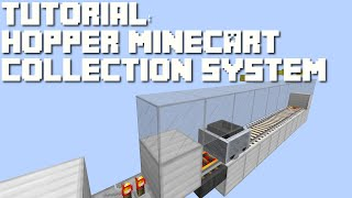 Minecraft: Easy Hopper Minecart Collection System