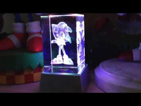 Sonic the hedgehog 10th anniversary crystal cube lit up