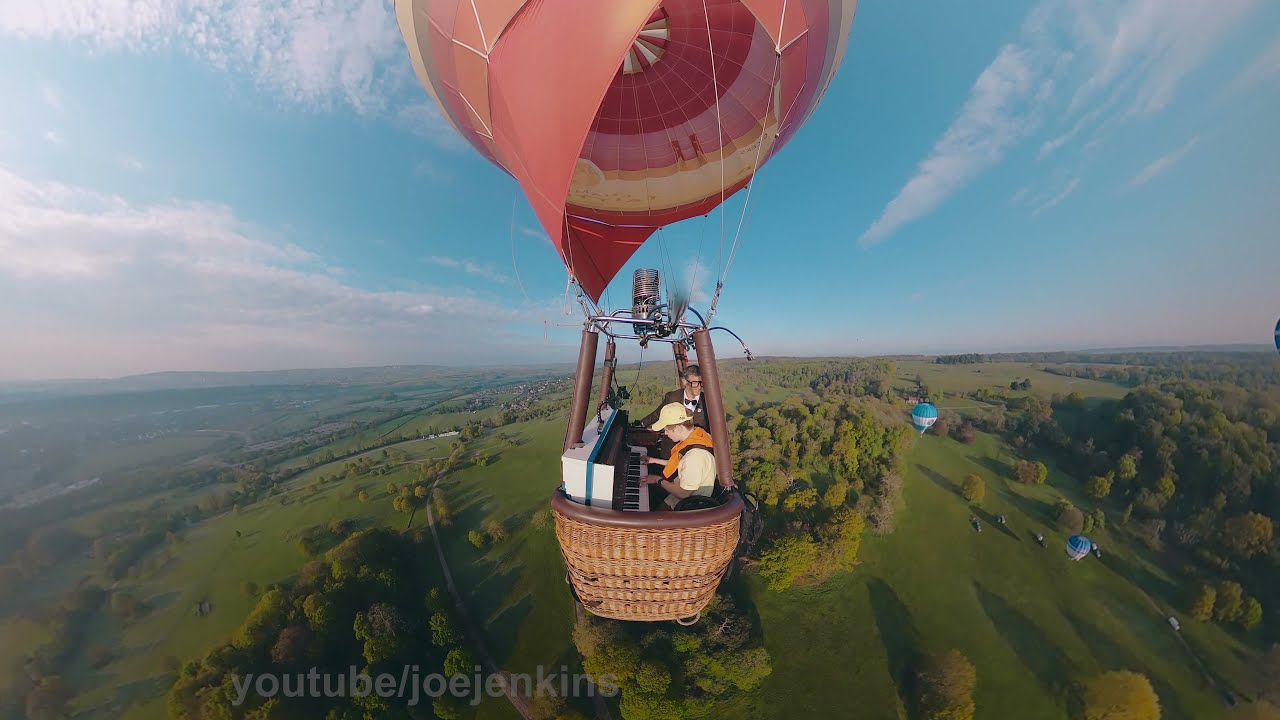 I put my piano in a Hot Air Balloon just to play the UP theme (Married Life)