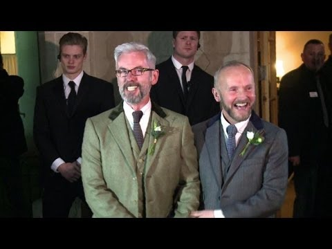 First gay marriages take place in England, Wales