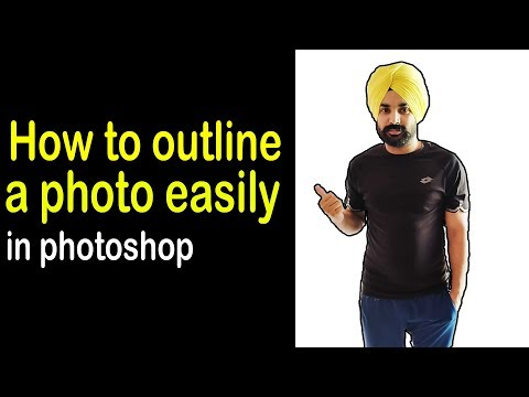 How to outline and stroke on a photo easily Photoshop tutorial | thumbnail