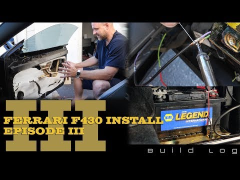 Ferrari F430 Audio System Install Episode 3: Finish Wiring Doors and Repair Harnesses