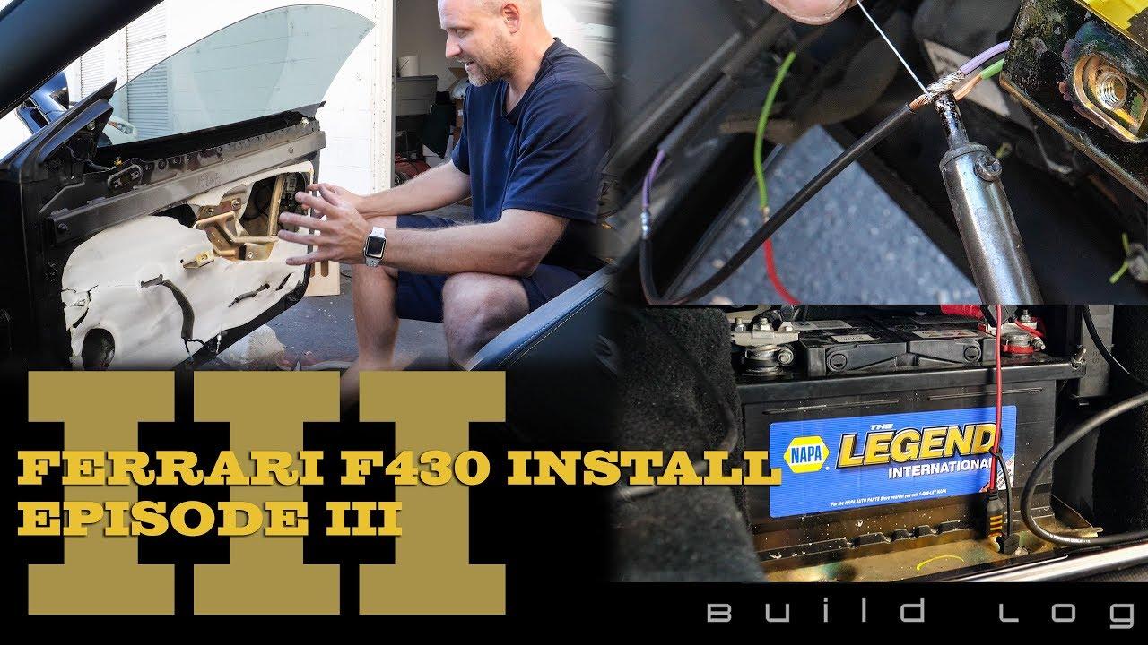 Ferrari F430 Audio System Install Episode 3 Finish Wiring Doors And Diagram Repair Harnesses