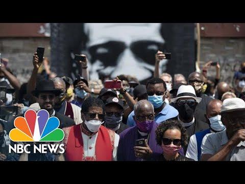 George Floyd Memorial Service In Minneapolis | NBC News