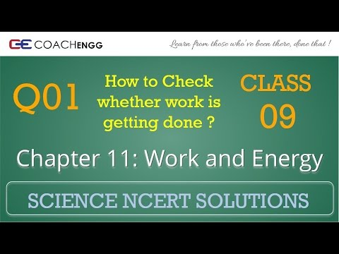 Work and Energy Question 01 Chapter 11 Class 09 NCERT Solutions Exercise