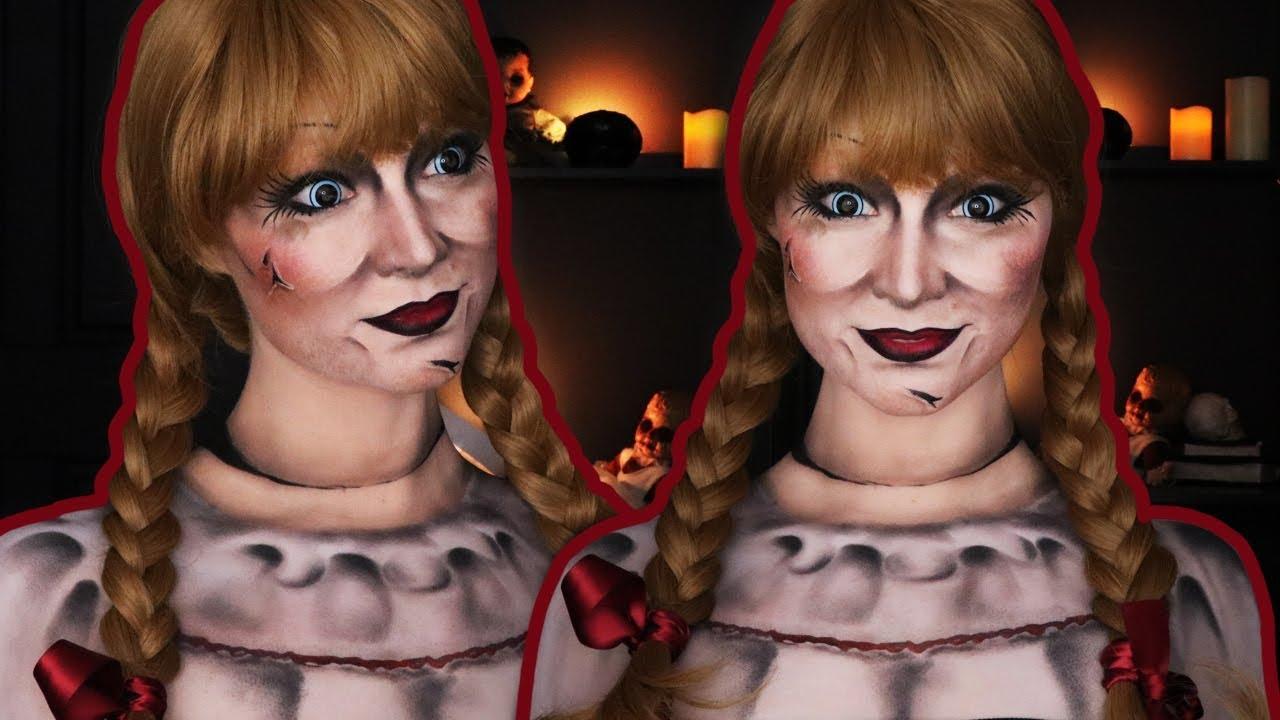 Annabelle Halloween Makeup Tutorial