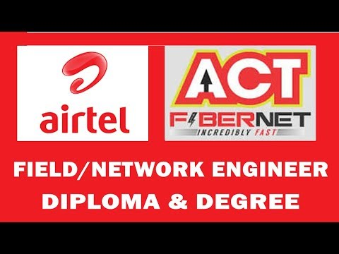 TELECOM JOBS - AIRTEL ,ACT FIBRENET  FRESHER And Experience