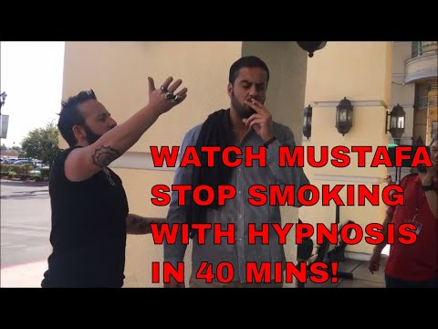 Watch Mustafa Stop Smoking with Hypnosis in 40mins  (FULL VIDEO)
