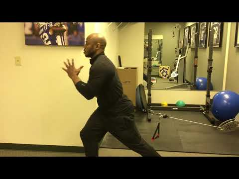 Dynamic Reverse Lunge w/ load performed by Terrence Wilkins, NFL player