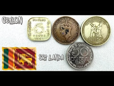Coin Collection | Ceylon / Sri Lanka | 4 Coins ( Cent / Rupees  ) From 1942