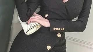 여성 브이넥 자켓형 섹시 원피스 홀복 클럽의상 섹시 정…