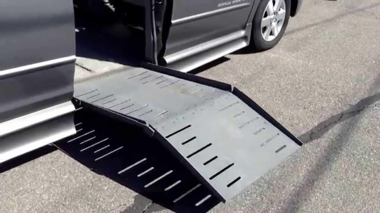Toyota Wheelchair Van with a Braun Entervan FoldOut Ramp