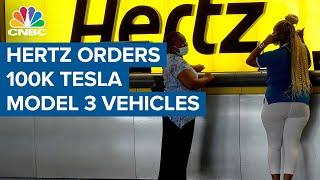 Hertz orders 100,000 Tesla Model 3 vehicles