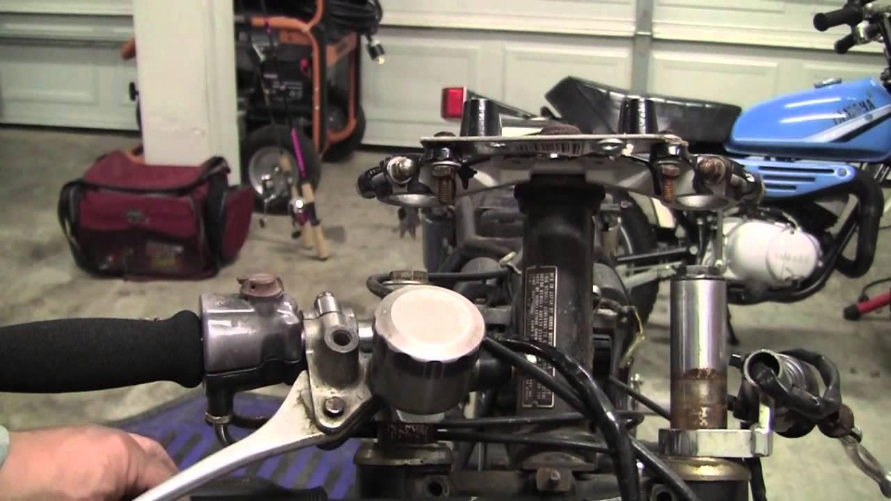 Cafe Racer Build Project Part 11 : 1973 Honda CB350F / CB350 : Removing  Front Forks