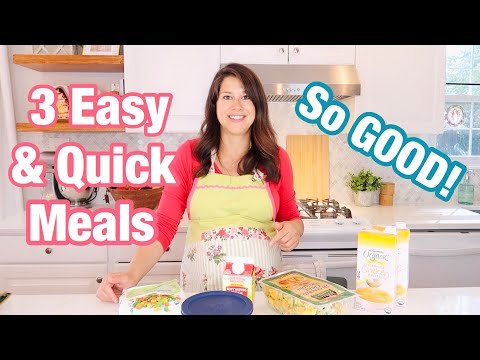 3 QUICK AND EASY MEALS (10 min prep time)