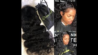 Full lace wig install | Swiss Lace | LIGHT SKIN | HAIRBYERICKAJ.COM