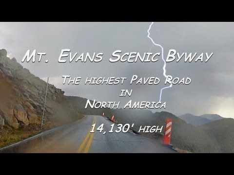 Highest Paved Road in North America, Mt. Evans Scenic Byway: Colorado Motorcycle Trip: