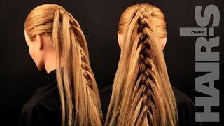 Заплетаем французскую косу с выпущенными прядями - видеоурок (мастер-класс) Hair's How.
