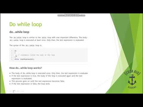 Tutorial 21 | While and do while loop with examples | C Programming thumbnail
