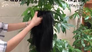 Brazilian 4x4 Closure Customized Wig 100% Human Virgin Straight Hair Lace Wigs for Women