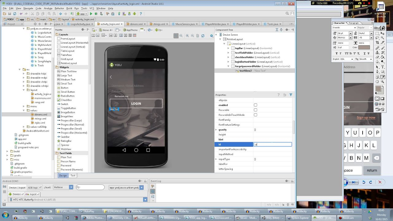Android Studio Tutorial. Making a Register screen #1 (XML UI ...