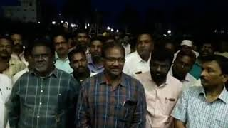 Protesting against the Calvary Temple and Dr.Sathish Kumar at Palcole by local Pastors