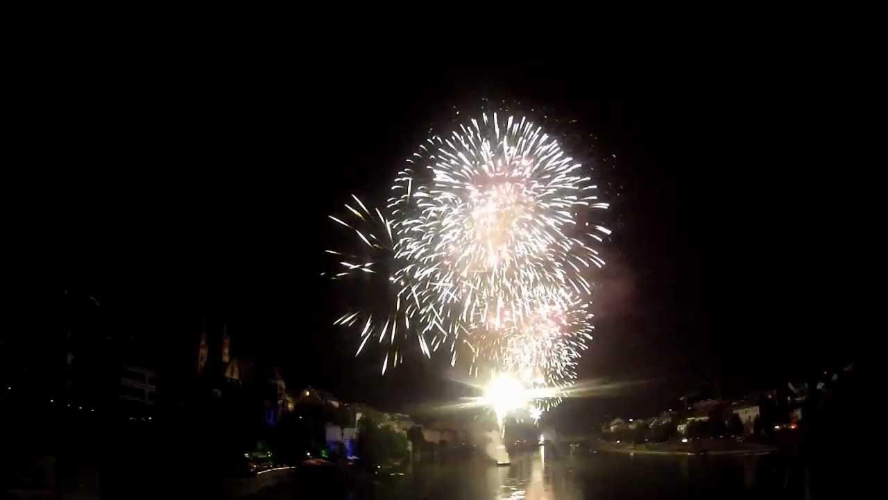 1 August 2012 Feuerwerk Basel 23min Youtube