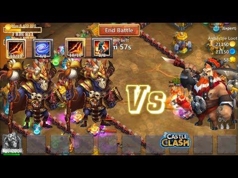 Stone Skin& Empower Wallawalla Vs Centaur King - Castle Clash