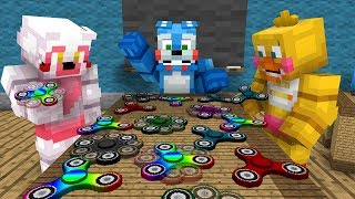 fnaf monster school fidget spinner challenge minecraft animation