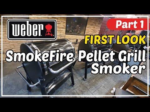 Part 1 FIRST LOOK   Weber SmokeFire Pellet Grill Smoker   BBQ Champion Harry Soo SlapYoDaddyBBQ.com