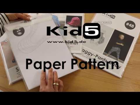 Einfach nähen lernen mit den Kid5 Papierschnittmustern