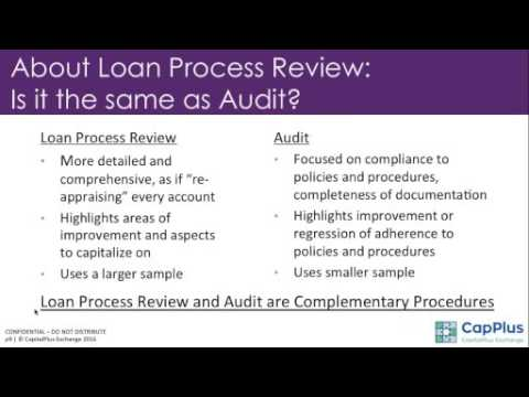 CapPlus Webinar:  Improving Credit Operations through Loan Process Review
