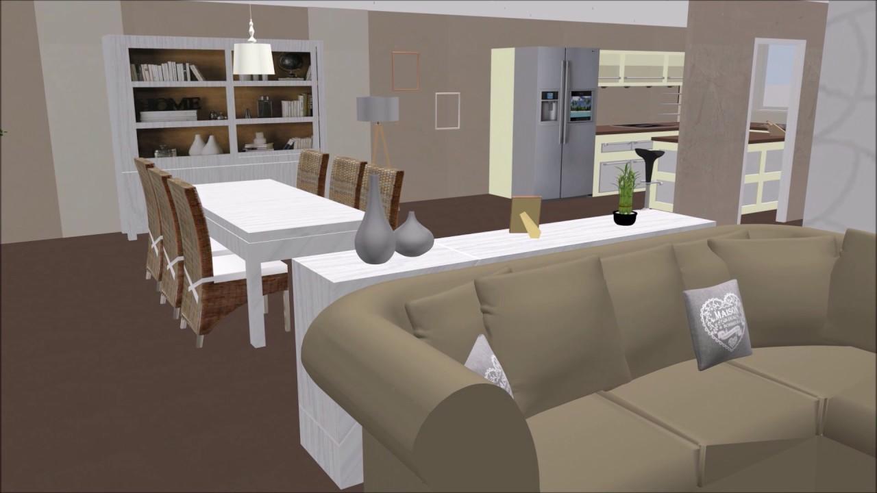 visite virtuelle salon sejour cuisine