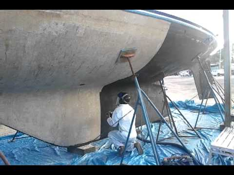 Gel Coat Peeling Fiberglass Boat Bottom Repair Fort Lauderdale Fl Youtube