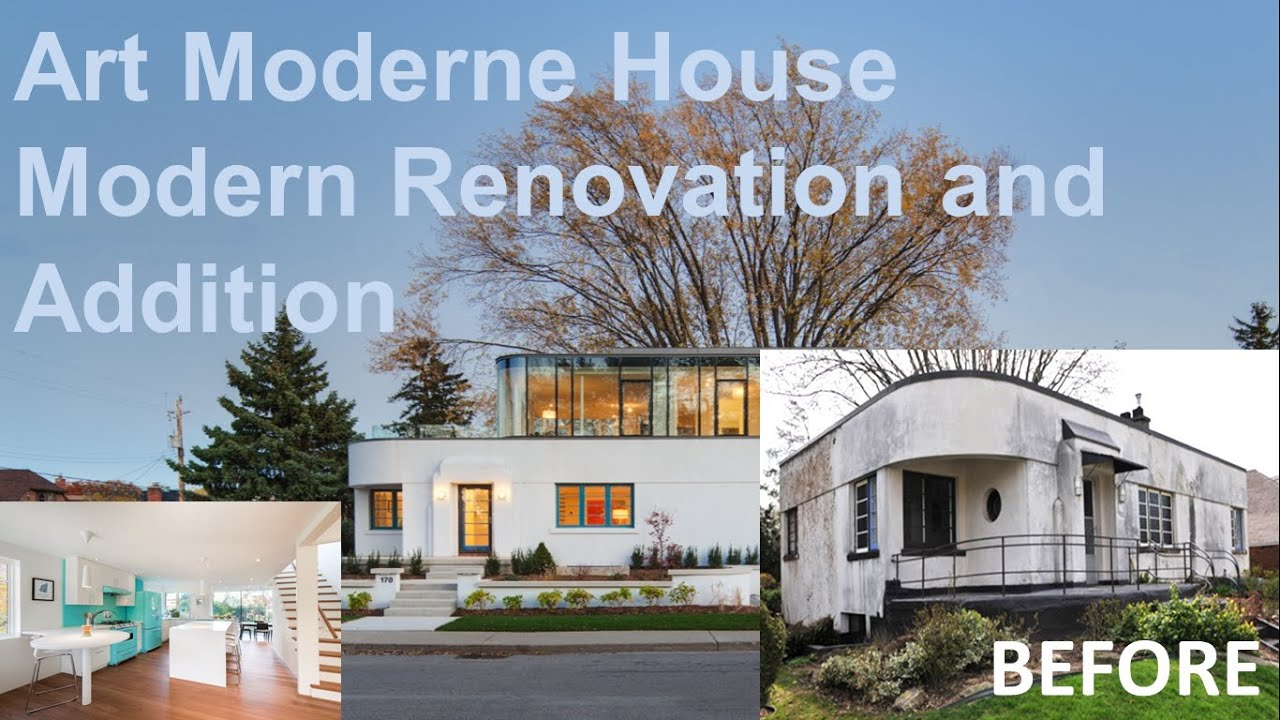 Art moderne house modern renovation and addition youtube for Streamline moderne house plans